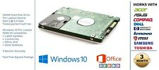 "320GB HDD SATA II 2.5"" Laptop Hard Drive  Pre Loaded with Windows 10"