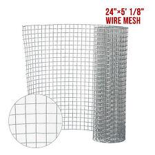 """24"""" X 5' 1/8"""" Galvanized Welded Metal Mesh Wire Hardware Cloth Chicken Fence"""