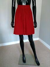 Sessun designer burgundy red wool A line mini skirt sz. 36FR/8UK/S