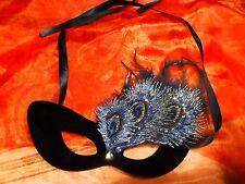 incognito !!joli masque-LOUP  a plumes et strass ,pour soirée masquée ????
