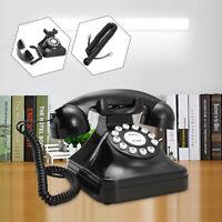 Black Vintage Retro Antique Phone Wired Cored Landline Home Desk Decoration US