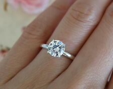 $3000 Natural 1.03 Carat Eye Clean F/SI Round Diamond Solitaire Gold Ring