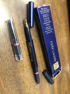 ESTEE LAUDER * FIG 21 * AUTOMATIC LIP PENCIL DUO with BRUSH & 1 REFILL