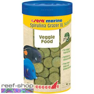 Sera Marine Spirulina Grazer XL Nature 250mL Saltwater Reef Fish Food Tablets