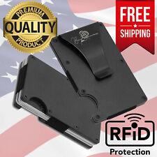 Premium Aluminum RFID Blocking Wallet Money Clip Slim Card Holder Organizer