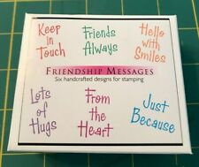 Hero Arts Wood Mounted Stamps - Friendship Messages #LL902 - NIP