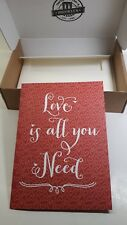 """Valentine's Day Card. """"Love Is All You Need"""" With Envelope & Box.Free Shipping"""