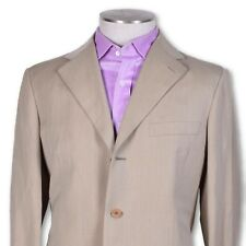 NEW NWT Belvest Tan Three Button Dual Vent Wool/Linen Suit STUNNING 40 40r