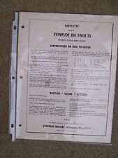 1957 Evinrude Big Twin 25 HP Outboard Parts List 25028 25029  MORE IN STORE  U