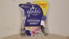 3 Glade plugins Scented Shimmering Wonder Plum Blossom w 1 Warmer and 1 Refill