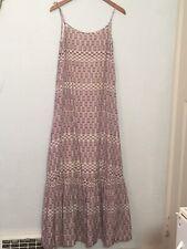 Twenty8Twelve Sz 4 Tombolo S.Miller Silk Maxi Dress Purple White Anthropologie