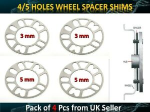 *5 MM+3 MM* 4PCs Universal Car Alloy Wheel Spacers Shims 4&5 Studs fit CHRYSLER