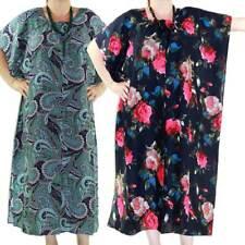 Maxi Kaftan Dress Caftan Plus Size 10 - 30 Women Paisley Long Cover Up Summer