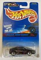 1997 Hotwheels Ferrari 355 Black Rockin Rods! Long Card! Very Rare! Mint! MIOC!