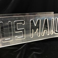 Lucite US Mail Letter Organizer Vintage Laser Cut Holder Acrylic  Desk Accessory