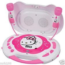 Hello Kitty Portable Karaoke Machine & CD Player + 2 Microphones NEW