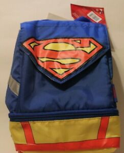 Superman Thermos Insulated Lunch Kit With Cape New With Tags PVC Free NEW!!!