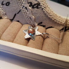 Artisan Crafted Peach Moonstone Star Pendant in Sterling Silver
