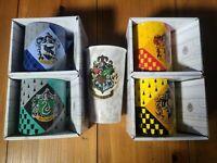Harry Potter House Coffee Mug Hufflepuff Slytherin Ravenclaw Gryffindor Lot of 5