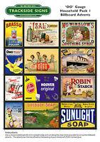 Model Railway Billboard Poster Advert Sheet Packs - OO Gauge 4mm - Lots of packs