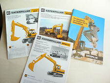 Lot de 4 Catalogues  CATERPILLAR  Pelle Excavator brochure prospectus TP  camion