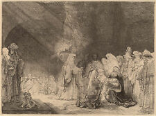 Rembrandt Etching Reproduction: Presentation at the Temple -  Fine Art Print