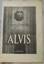 1942 Alvis Original advert No.1