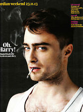 GUARDIAN WEEKEND 23/11/2013 Oh Harry! DANIEL RADCLIFFE GETS DOWN & DIRTY @New@