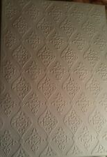5 X SHEETS OF A4 EMBOSSED REGENCY CREAM CARD IDEAL FOR COLOURING