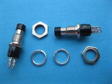 12 pcs Push OFF Black Cap SPST Mini Push Botton Momentary Switch 120V/6A 250V/3A