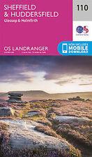 Sheffield Huddersfield Glossop Holmfirth Landranger Map 110 OS 2016
