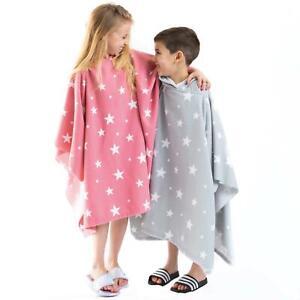 Dreamscene Star Kids Hooded Poncho Towel Childrens Beach Swimming Changing Robe