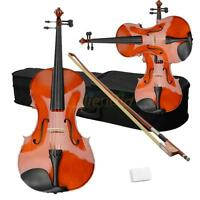 """New School Band 16"""" Natural Practice Acoustic Viola + Case + Bow + Rosin"""