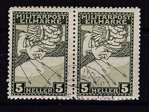 Bosnia Herzeg - 1916 -  Michel 118 B - zahn 11 1/2 pair  -  used - 150 Euro