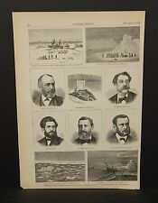 Harper's Weekly 1Pg From the Artic World 1873 B7#89