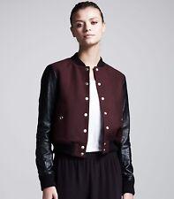 Theory Dex Varsity Bomber Leather Jacket Size Large L