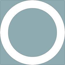 1 Autocollant rond 40cm rayon 30cm cercle adhésif blanc 10 cm