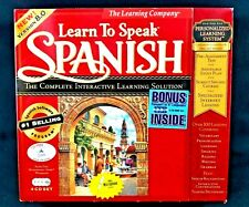 The Learning Company: Learn to Speak Spanish 4 CD's Version 8.0 Computer Program