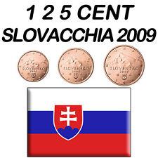 1 + 2 + 5 CENT 2009 SLOVACCHIA SLOWAKEI ESLOVAQUIA SLOVAQUIE SLOVAKIA FDC UNC