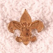 BSA Boy Scout - Tenderfoot Scout Rank Pin, stars out - rolling lock fastener