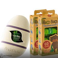Beco Pocket - Natural & Beco Eco Friendly Dog Poop Bags - 60 Travelpack x 2 Set