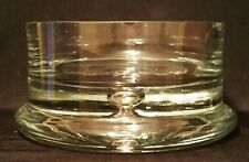 5 POUND vtg crystal cigar ashtray mcm glass bubble tobacco art large bowl