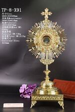 Ornate Brass Monstrance Reliquary for  Church with Tabor Pedestal TP-8-X91