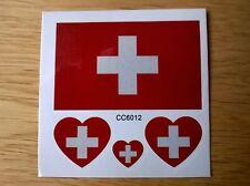 Swiss Svizzera Bandiera Tatuaggi Temporanei () Nuovo di Zecca 60mm x 60mm