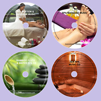 Massage & Relaxation Music - Perfect for Spa Salon Therapy Suite - 4 CD's