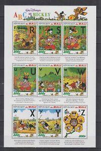 V838. Mali - MNH - Cartoons - Disney's - Alphabet - R To Z
