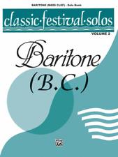 """CLASSIC FESTIVAL SOLOS FOR BARITONE B.C."" MUSIC BOOK-VOLUME 2-BRAND NEW ON SALE"