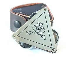 Magnifying Loupe Jewelry Loupe Jewelers Pocket Magnifier Loop 10X 15X 20X Triple