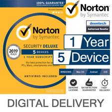Norton Security Deluxe 2019 (5 User) Multi Device PC/Mac Genuine License Key