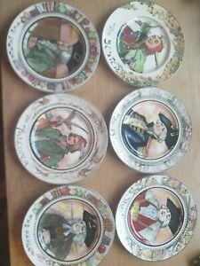 Vintage Royal Doulton Collector Plates Falconer,admiral,mayor,parson Etc X6